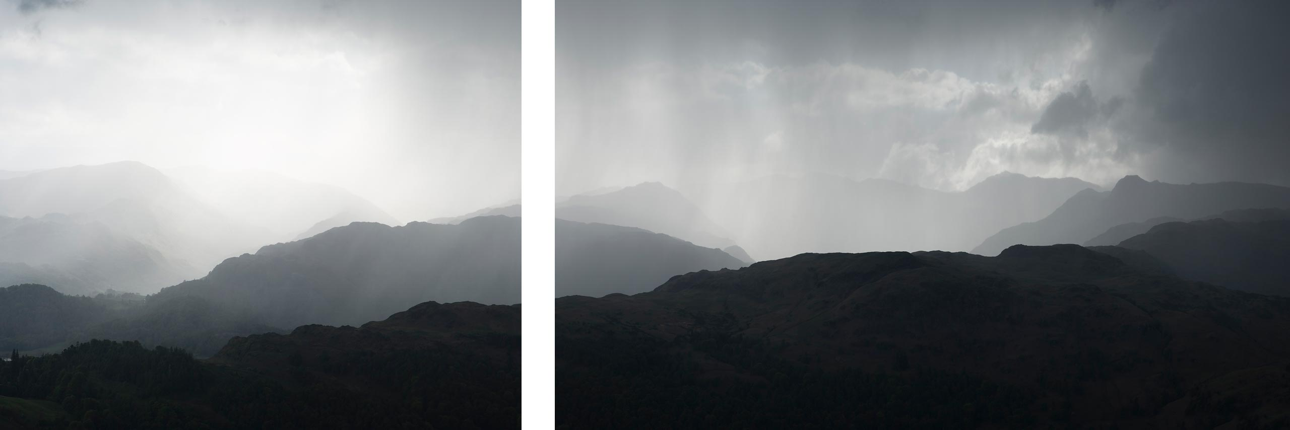 Rain over Langdale