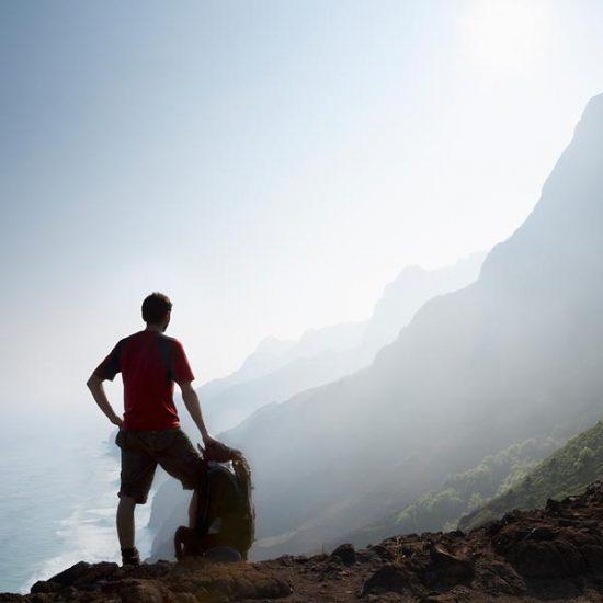Hiker in Hawaii