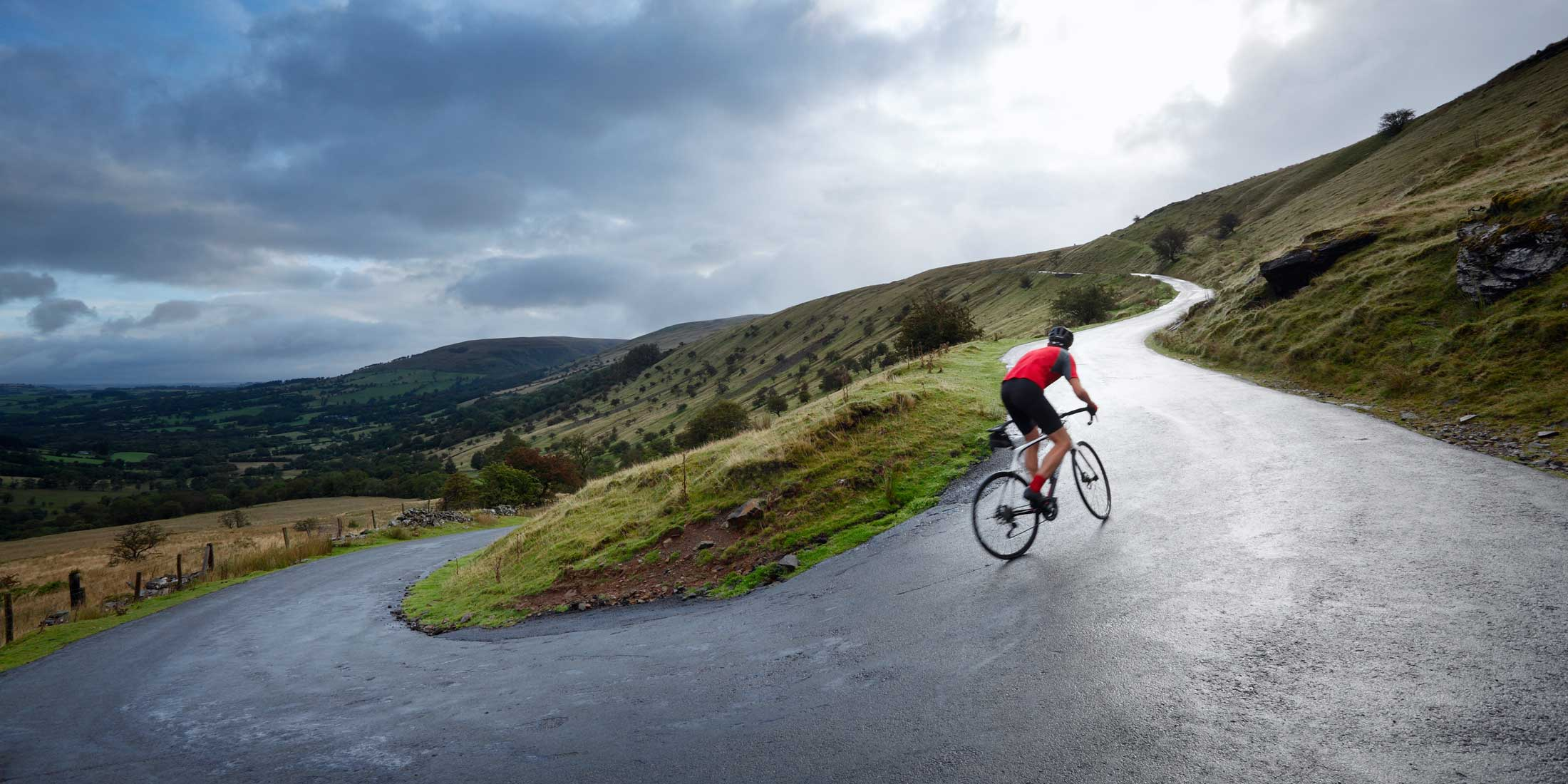 Road Cyclist Hairpin Bend